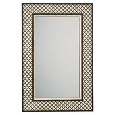 Bone Inlay Mirror | Eye-catching and, this is our interpretation of the flea market find of your dreams, with a beautiful frame of hand-forged iron