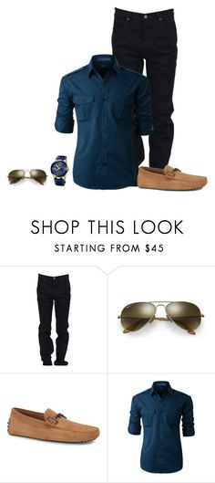"""Reynaldo"" by llimiwi ❤ liked on Polyvore featuring Calvin Klein, Ray-Ban, Tod's, LE3NO, Ulysse Nardin, men's fashion and menswear"