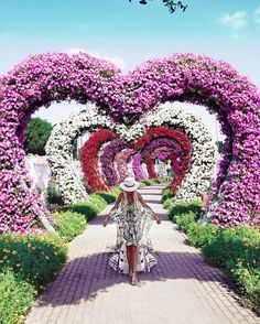 "14.4k Likes, 216 Comments - Helen Janneson Bense (@gypsylovinlight) on Instagram: ""Fluttering around the Miracle Garden of Dubai filled with love and gratitude to experience such…"""