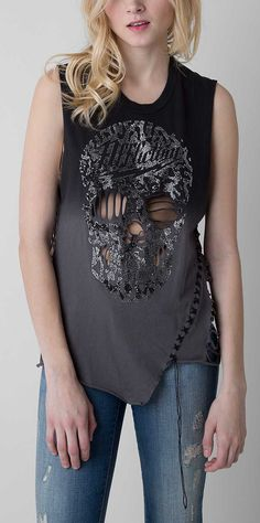 Affliction Rock N Skull T-Shirt - Women's Tops/Tanks | Buckle