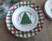 FREE SHIPPING Set of 5 Lillian Vernon Christmas 1978 Plates from County Cork Ireland Carrigaline Pottery