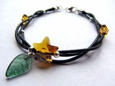 Kingdom Hearts Paopu Fruit Swarovski Bracelet