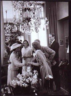 Coco Chanel with Audrey Hepburn and Jose Ferrer