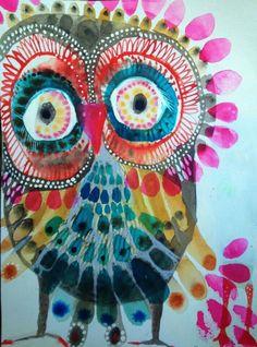 Owl Artwork, Animal Art Projects, 2nd Grade Art, Art Lessons Elementary, Autumn Art, Art Lesson Plans, Mail Art, Art Plastique, Teaching Art