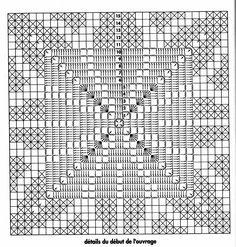 Image Article – Page 330099847688095651 Crochet Square Patterns, Crochet Stitches Patterns, Crochet Squares, Thread Crochet, Crochet Designs, Filet Crochet Charts, Crochet Diagram, Crochet Motif, Crochet Doilies