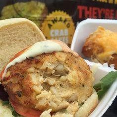 Crab Cake Sandwich & a Cheesy Crab Pretzel