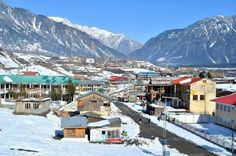 Winter View of Kalam Valley .One of the most attractive and beautiful place for the tourist to visit in summers and enjoy skinng in Kalam Valley