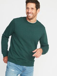 Colourful Mens Fashion Pullover Solid O-Neck Tops Long Sleeve Tracksuit Top