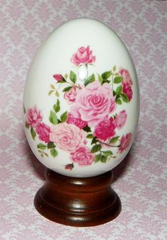 Vintage Summer Roses Avon Porcelain Egg with by VintageRainbowShop,  on Etsy