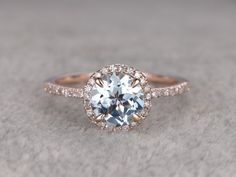 Light Blue Engagement Ring - Non Diamond Engagement Rings - Engagement Rings Without Diamonds ...repinned für Gewinner! - jetzt gratis Erfolgsratgeber sichern www.ratsucher.de