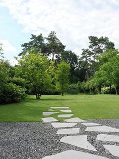 Patrick Verbruggen Garden Paving, Garden Paths, Modern Landscaping, Garden Landscaping, Pool Landscape Design, Urban Landscape, Garden Architecture, Classical Architecture, Ancient Architecture