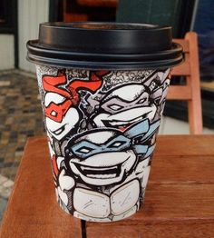 Very Nerdy Coffee Cup Art (6 Images)