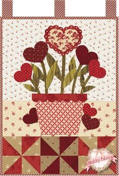 Little Blessings - Blooming Hearts Laser Cut Kit: Little Blessings Wallhanging Club available here - receive all 12 kits and get free shipping! Let the Little Blessings bring you cheer all year long!  Jennifer Bosworth of Shabby Fabrics has created this wallhanging series using some of her favorite designs from previous quilts as well…