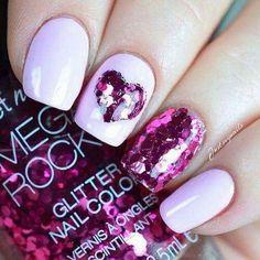 Romantic Valentine's Day Nail Art Ideas & Designs! #pinknails #WeddingNailsIdeas