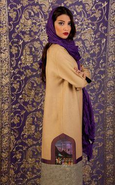 Beautiful Persian Fashion! Modern Artistic Iranian woman wear. What a beautiful coverage !