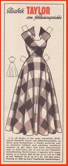 Elizabeth Taylor - weekly magazine Tempo in 1953.