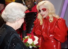 Queen Elizabeth II Photo - Lady Gaga Meets Queen Elizabeth