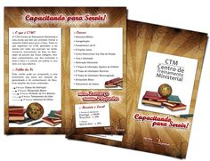 FOLDER para curso ministerial    Igreja Presbiteriana Central de Londrina     2009 • Londrina/PR