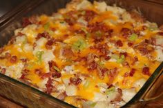 Cheesy Loaded Twice-Baked Potato Casserole