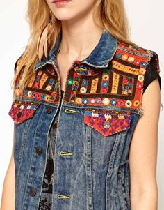 Enlarge Denim & Supply By Ralph Lauren Gilet With Embroidery