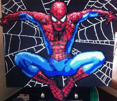 """It has been a long project with this one but Spidey is completely finished! (with my phones horrible picture quality his webs look a little messy but I tried to make them look """"hairy"""" almost like h..."""