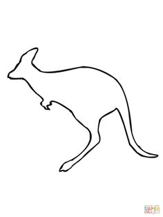 Kangaroo Pattern Use The Printable Outline For Crafts