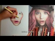 Realistic skin tutorial Chloe Moretz (prismacolor) and tips - YouTubel
