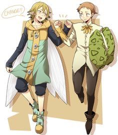 Helbram and King switched clothes