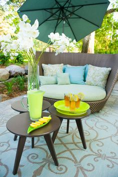 Eco-Friendly ~ Mid-Century Modern Outdoor Room - modern - patio - minneapolis - Fusion Designed LLC