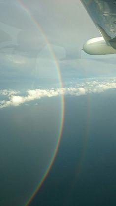虹の輪くぐり❗