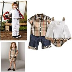 Burberry left boy right girl clothes