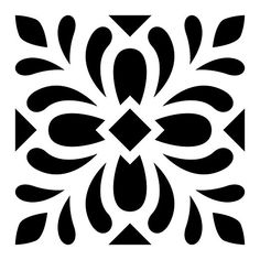 Stencils of tile designs for floor tiles, wall tiles and other DIY home decor projects. Custom Stencils, Stencil Templates, Stencil Patterns, Stencil Designs, Tile Patterns, Stencil Fabric, Fabric Painting, Stenciling, Art Mural