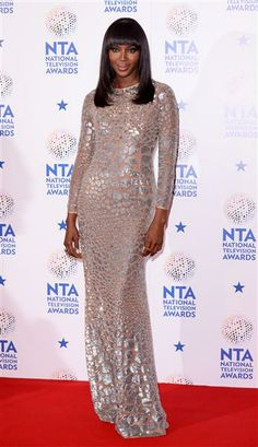 Naomi Campbell, Model, arrives at the National Television Awards in London on Jan. 22, 2014.