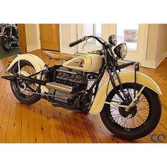 1939 Indian Four 4 Cylinder motorcycle tan colour