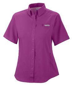 Columbia® Tamiami™ Shirts for Ladies - Short Sleeve   Bass Pro Shops #mothersdaygifts #fishingshirt #womensfishinggear #fishinggear #travel #vacation #kayaking #canoeing #hiking #omniwick #omnishade #sunprotection