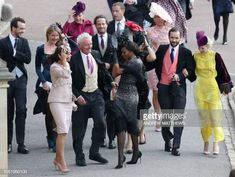 Guests arrive to attend the wedding of Britain's Princess Eugenie of York to Jack Brooksbank at St George's Chapel Windsor Castle in Windsor on. Princess Eugenie Jack Brooksbank, Princess Eugenie And Beatrice, Eugenie Of York, Princess Pictures, October Wedding, Bridesmaid Dresses, Wedding Dresses, Naomi Campbell, Event Styling