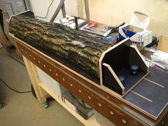 Basti´s Holzpage: Vorrichtung zum auftrennen von Stammholz