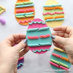 PASTA NOODLE EASTER EGGS - such a fun Easter craft for kids! Perfect for preschool or toddlers to create also! crafts for kids for teens to make ideas crafts crafts Easter Crafts For Kids, Toddler Crafts, Diy For Kids, Easter Crafts For Preschoolers, Diy Kids Crafts, Craft Ideas, Recycled Crafts, Kids Fun, Easter Ideas