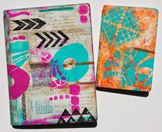 Art Journal ideas from Mary C. Nasser using StencilGirl stencils from StencilClub designed by Mary Beth Shaw.