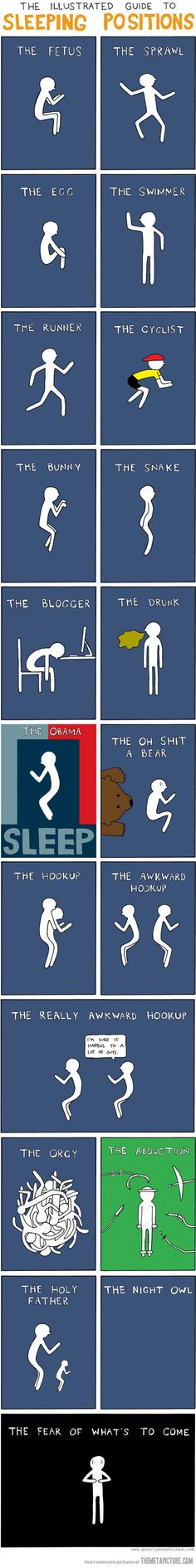 The illustrated guide to sleeping positions...