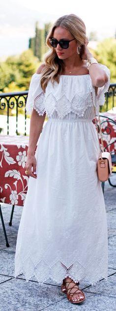 Style Cusp White Crochet Maxi Dress