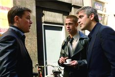 Brad Pitt, George Clooney, and Matt Damon in Ocean's Twelve (2004)