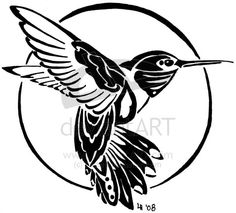 tribal hummingbird tattoo... love it!