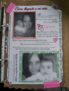Página sobre mi niña. Diario.