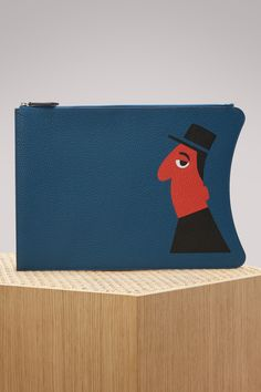 MOYNAT MICHEL LEATHER POUCH. #moynat #