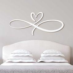 Drevená dekorácia do spálne - Nekonečná láska │ ... Bed Pillows, Hoop Earrings, Jewelry, Pillows, Jewlery, Jewels, Jewerly, Jewelery, Circle Earrings