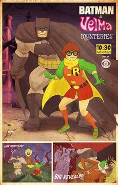 Batman and Velma Team Up in DARK KNIGHT RETURNS and SCOOBY-DOO Mashup Art — GeekTyrant