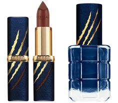 http://www.revelist.com/beauty-news-/loreal-beauty-and-the-beast/6768/The Beast's rich brown lipstick and royal blue polish is marked with a savage scar./4/#/4