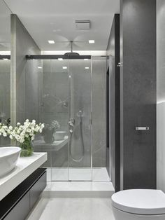 Most Design Ideas Modern Apartment Bathroom Pictures, And Inspiration – Modern House Bad Inspiration, Bathroom Inspiration, Modern Bathroom Design, Bathroom Interior Design, Modern Design, Washroom Design, Loft Interiors, Design Interiors, Modern Shower