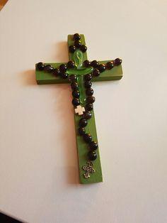 Rosary on wood cross by Chuladasbyreyna